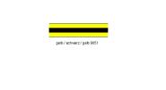 Resopal Tafel gelb/schwarz/gelb 9051