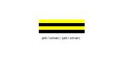 Wirthalon Tafel gelb/schwarz/gelb/schwarz