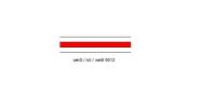 Resopal Tafel       weiß/rot/weiß 9012