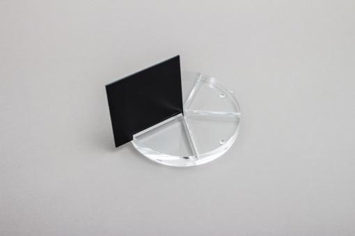 Polystyrol Tafel schwarz, 2000 x 1000 mm