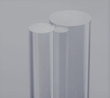 Acrylglas GS Rundstäbe farblos, 1000 mm Länge