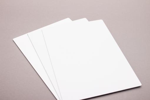 Maxpanel Tafel beidseitig weiß | Deckschicht 0,26 mm Alu