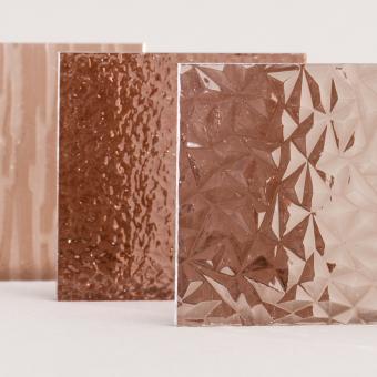 Acrylglas XT Tafel strukturiert bronce, Großformat
