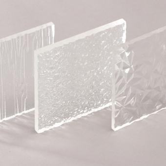 Acrylglas XT Tafel strukturiert farblos, Großformat
