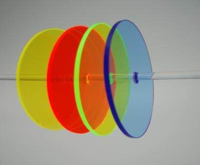 Acrylglas GS Tafel farbig transparent-fluoreszierend, Großformat
