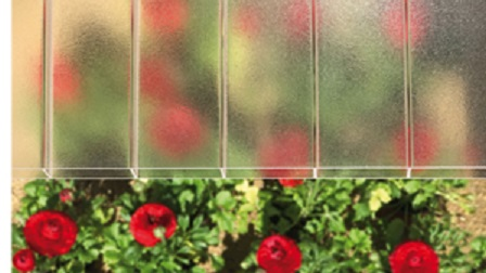 Plexiglas® SDP 16-64 farblos 0RS09 D-Struktur 1200 mm breit