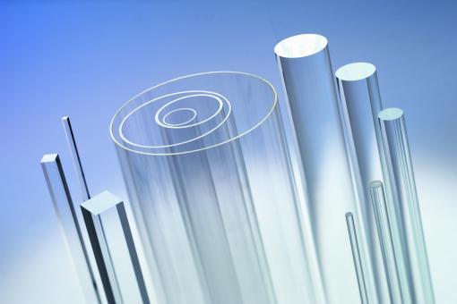 Acrylglas XT Vierkantstäbe farblos,  2000 mm Länge