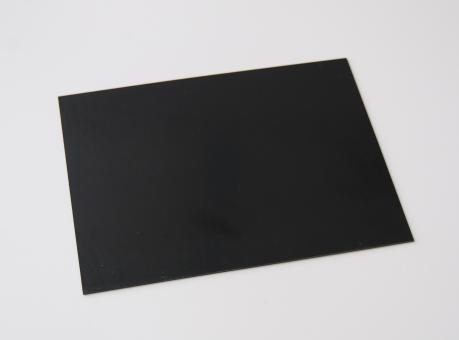 Polystyrol Platten schwarz matt 0,5 mm