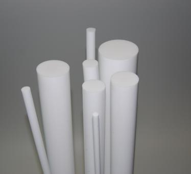 PTFE Rundstab virginal weiß / 2000 mm lang