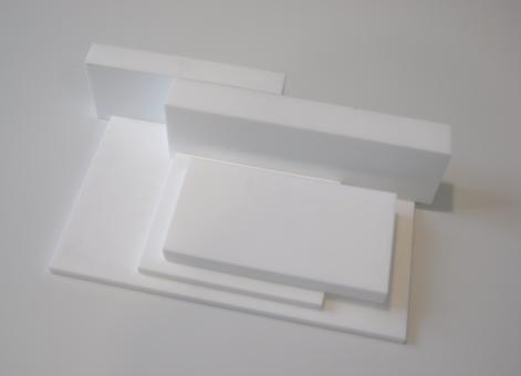 PTFE Tafeln virginal weiß / Mittelformat