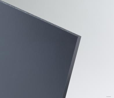 PVC Tafeln extrudiert dunkelgrau, Kleinformat