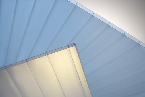 Plexiglas® SDP 16-64 HEATSTOP Cool Blue, No drop, 980 mm breit